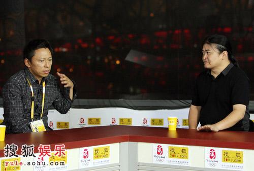 北京奥运官网首席记者张朝阳麻辣访问刘欢