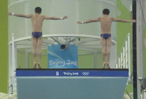"""图文:男子双人十米台 中国""""跃亮""""登场 1"""