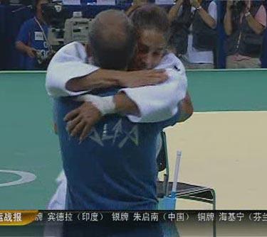 图文:[夺金时刻]昆塔瓦莱柔道女子57公斤夺冠