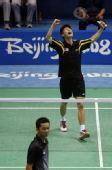 图文:奥运羽毛球男单前32比赛 黄综翰怒吼