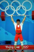 图文:男举62公斤级决赛 张湘祥轻松拿下金牌