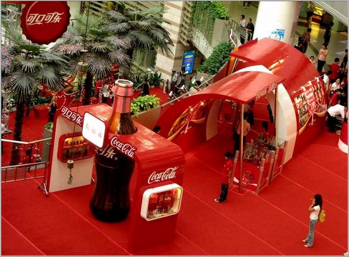 广东奥运畅爽地带-可口可乐历史展示图片