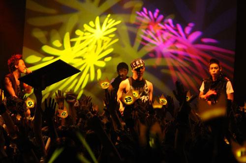 BigBang的热情演唱