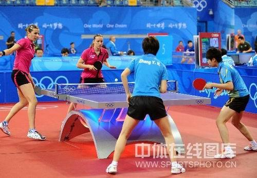 图文:女乒团体赛中国轻取克罗地亚 女团迎战