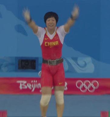 图文:[夺金时刻]刘春红举重女子69公斤级夺冠