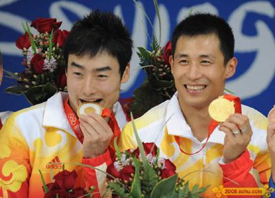 王峰与秦凯夺得男子3米板金牌
