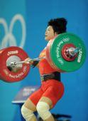 图文:女子69公斤级刘春红夺金 挺举瞬间