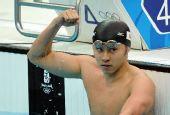 图文:男子200米蛙泳决赛 北岛康介当之无愧