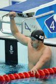 图文:男子200米蛙泳决赛 日本蛙王挥拳庆胜