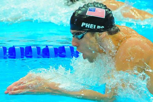 图文:男子200米个人混合泳 菲尔普斯再度出击