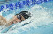 图文:男子200米个人混合泳半决赛 银鱼比赛中