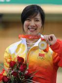图文:女子50米三姿杜丽夺冠 压力终于释放