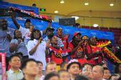图文:[奥运会]中国男篮VS安哥拉 安哥拉球迷