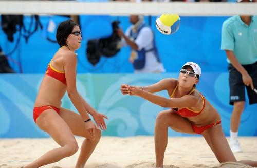 图文:女子沙排中国2 0南非