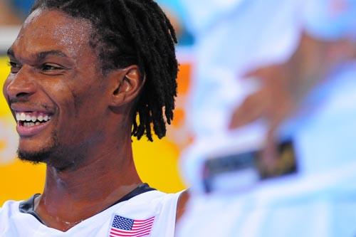 图文:[男篮]美国VS希腊 笑逐颜开