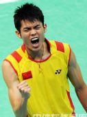 图文:羽毛球男单林丹晋级四强  终于赢啦