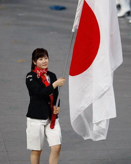 日本旗手福原爱