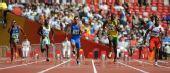 图文:男子100米预赛 博尔特冲刺