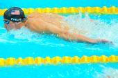 图文:男子200米个人混合泳决赛 菲尔普斯夺金