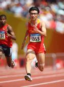 图文:男子100米预赛 胡凯发足狂奔
