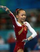 图文:奥运体操女子全能决赛 中国小丫杨伊琳