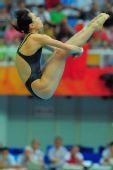 图文:奥运女子3米跳板预赛 吴敏霞空中屈体