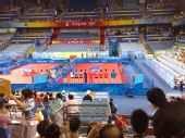 图文:女团半决赛中国VS中国香港 双方队员亮相