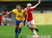 图文:女足1/4决赛巴西2-0领先挪威 比翼双飞