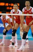 图文:女排预赛A组中国迎战美国 女排众队员