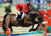 图文:奥运马术场地障碍赛 中国骑手首次出席