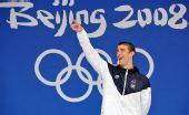图文:菲尔普斯100米蝶泳金牌 我是第一