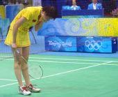 图文:奥运女单三四名决赛 黯然无缘奖牌