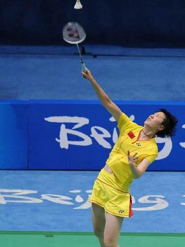 图文:羽毛球女子单打卢兰获第四名 你来我往