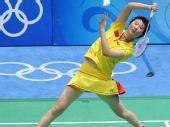 图文:羽毛球女子单打卢兰获第四名 奋力拼杀