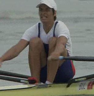 图文:[夺金时刻]奈科娃赛艇女子单人双桨夺冠