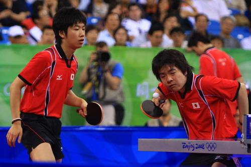 水谷隼/岸川圣也 北京奥运官方网站 李威/摄