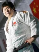 冠军相册:中国柔道队队员佟文写真 胜券在握