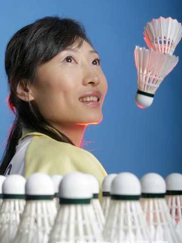 明星相册:羽坛名将张宁写真 羽毛球的梦
