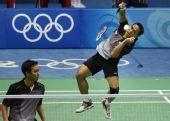 图文:男子羽球双打印尼夺冠 激烈的决赛