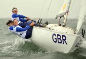 图文:奥运女子英凌级英国夺冠 英国选手比赛中