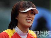 图文:女垒赛中国队1:2负中华台北队 笑容灿烂