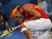 图文:网球男单决赛纳达尔夺金 兴奋异常