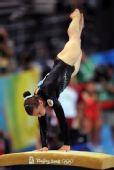图文:奥运女子自由体操决赛 帕夫洛娃比赛中