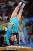 图文:女子跳马决赛 意大利选手