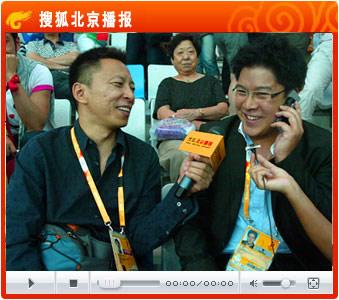 霍启刚高兴接受张朝阳专访