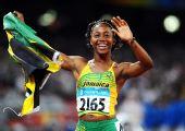 图文:牙买加女飞人百米摘金 10秒78的成绩夺魁