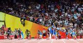 图文:牙买加女飞人百米摘金 比赛开始的瞬间