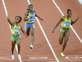 图文:牙买加选手夺100米金牌 欢乐的表情写脸上