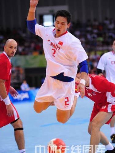中国 中国队/2008年8月18日,北京奥运会男子手球第一轮A组中国队和...