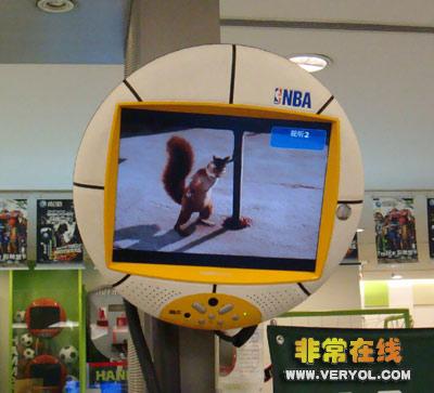 NBA蓝球瀚斯宝丽HANNspree液晶电视